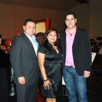 "Mayor Luis Marquez and Mrs. Alma Marquez with Spanish composer Oscar Navarro during the world premier of the ""Downey Overture"" by the Downey Orchestra, and the American premier of ""Noah's Ark,"" October 22, 2011."