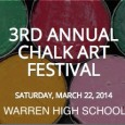 Warren High School Art Club is hosting their 3rd Annual Chalk Art Festival, under the leadership of art teacher Jennifer LaMar.  Students and members of the community have been invited to create works of sidewalk chalk art throughout the main part of campus, with a competition to follow.  All money raised at this event […]