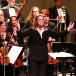 Director Sharon Lavery and the Downey Symphony Orchestra