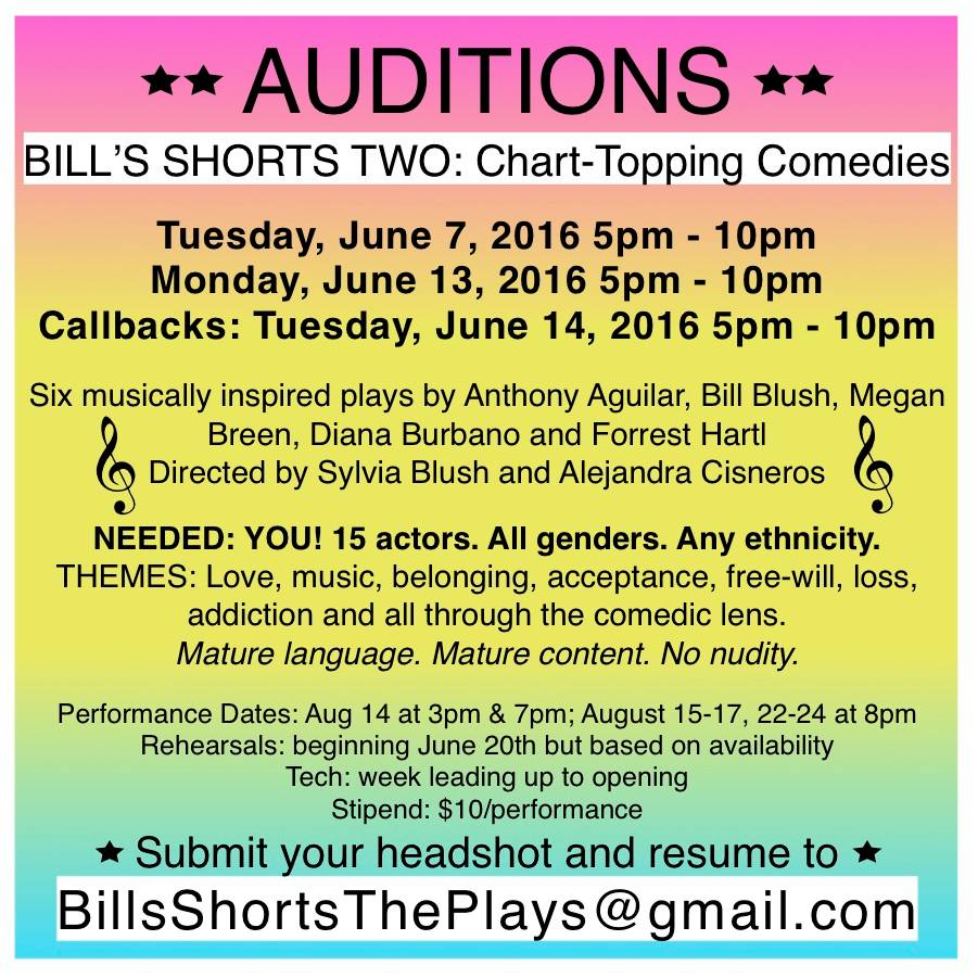 Auditions Bills Shorts2