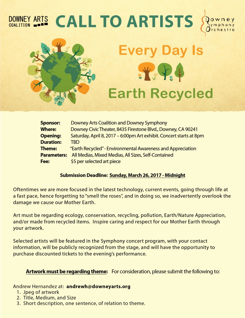 Earth Recycled Call to Artists