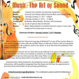"""Downey Arts Coalition is once again sponsoring a group art show with the Downey Symphony Orchestra for their fall concert on October 21. The theme is """"Music: The Art of Sound."""" We are seeking submissions for all medias and mixed medias, self-contained, all sizes. Selected artists will be featured in the Symphony concert program, with […]"""
